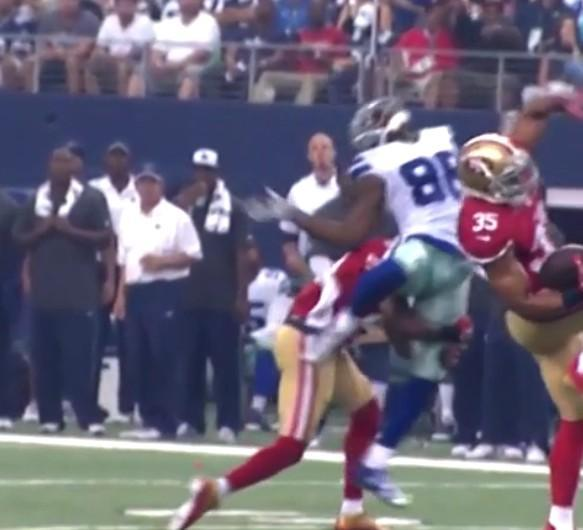 Dez Bryant Jim Ross Video Crazy Hit Dez Bryant Commentated
