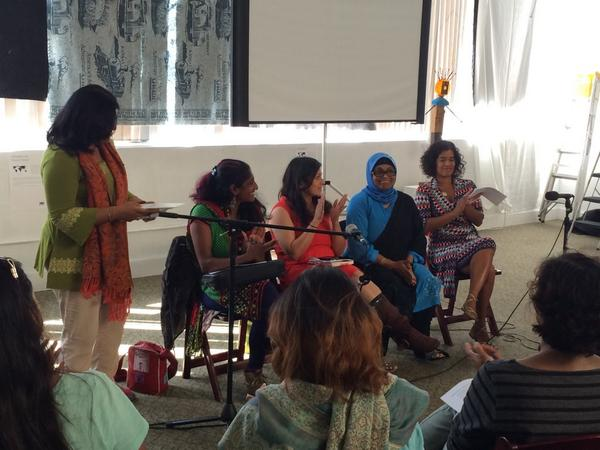 On stage at #ClaimingOurVoice Oakland: @preescribe, @yalinidream, Gul Nahar Alam, Jennifer Samuel http://t.co/9Y6Cm74zhs