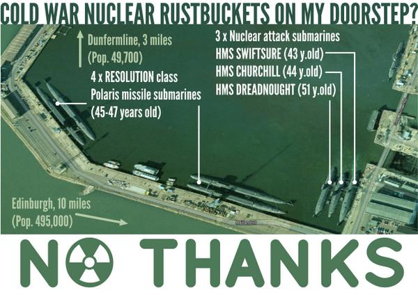 7 rusty old cold war nuclear submarines within 10 miles of Scotland's capital? #NOTHANKS http://t.co/xn5y4a7l3E