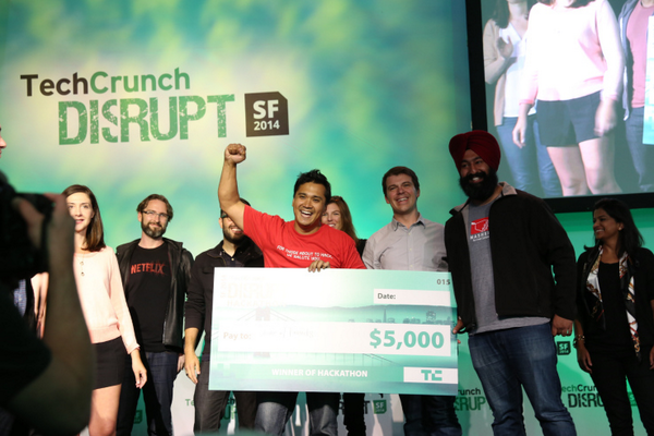 We're so proud of @mansilladev and the @Mashery @intel team for winning #HackDisrupt! http://t.co/jpgjEL8cGM http://t.co/NQc7kfickv