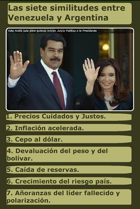 """VIVIR EN LIBERTAD على تويتر: """"El juego de las coincidencias: las siete  similitudes entre Venezuela y Argentina http://t.co/mdN6LMfFoI  http://t.co/bfeVCij12Q"""""""