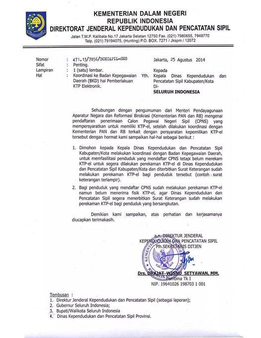 Pengurusan Surat Keterangan Sudah Melakukan Perekaman Ktp Elektronik
