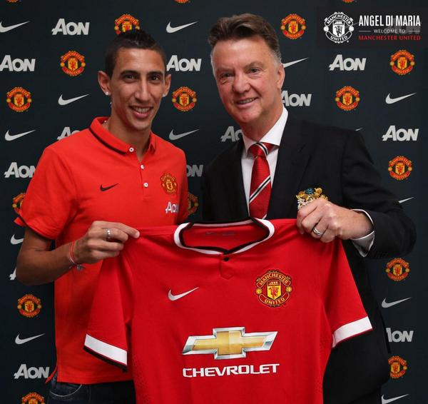 Welcome Angel Di Maria to Manchester United! #MUFC #WelcomeDiMaria http://t.co/LrtBjVuZg4