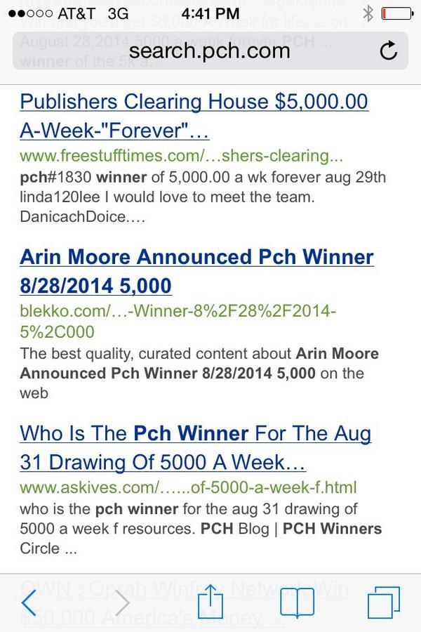 Pch Winners Circle