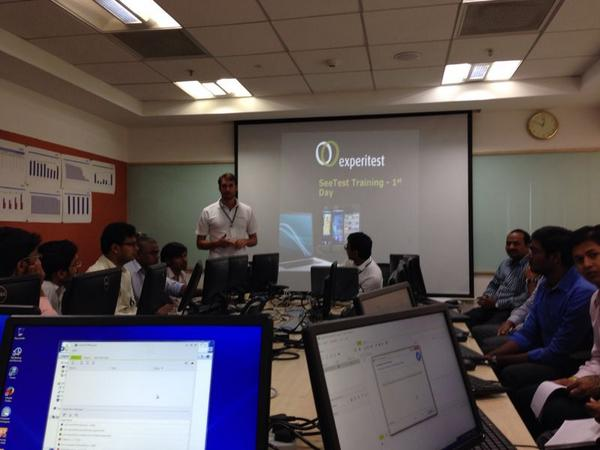 Experitest Runs Training Session at Ciginiti, India – Aug 2014