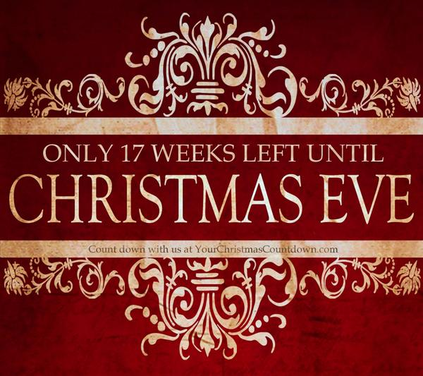 your christmas countdown on twitter only 17 weeks till christmas eve ios app httptcockw9pdy6ey web - Weeks Until Christmas