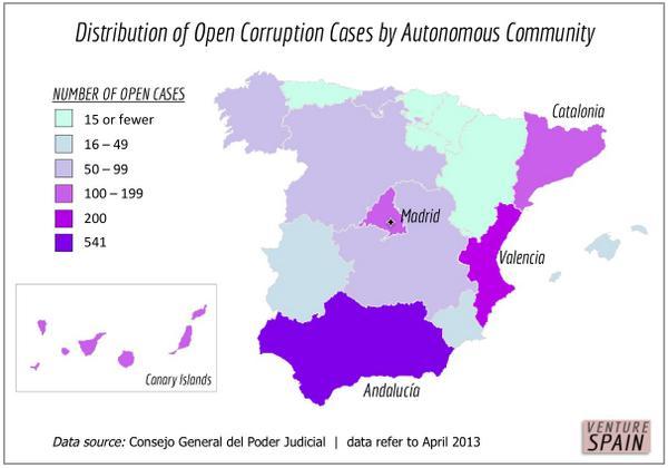 Map of the Spanish Political Corruption (2013)   #SpainCorruption #PP #Monarchy #Borbones   http://www. venture-spain.org/2014/corruptio n-in-spain/ &nbsp; … <br>http://pic.twitter.com/dbYKfx8L5h