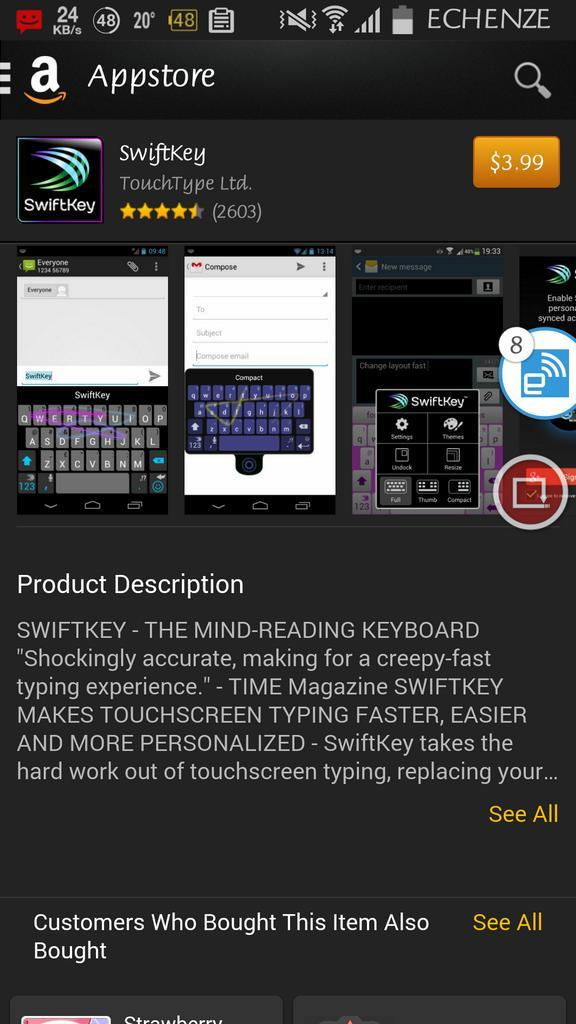 The Unsullied on Twitter: SwiftKey is still priced on the Amazon Appstore. SMH http://t.co/u93x7aLSWZ