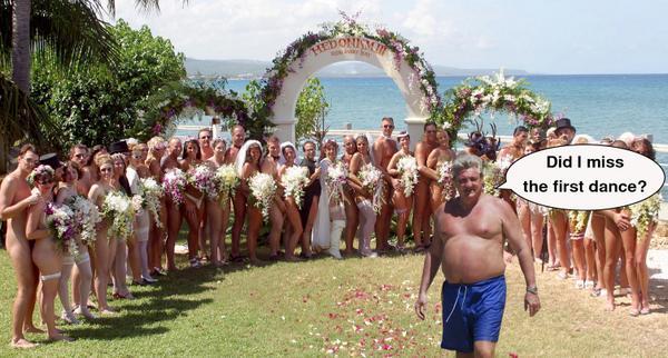 Mature nudist wedding