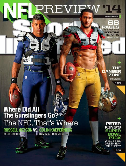 'Sports Illustrated' cover features Kaepernick's abs, Russell Wilson's penis