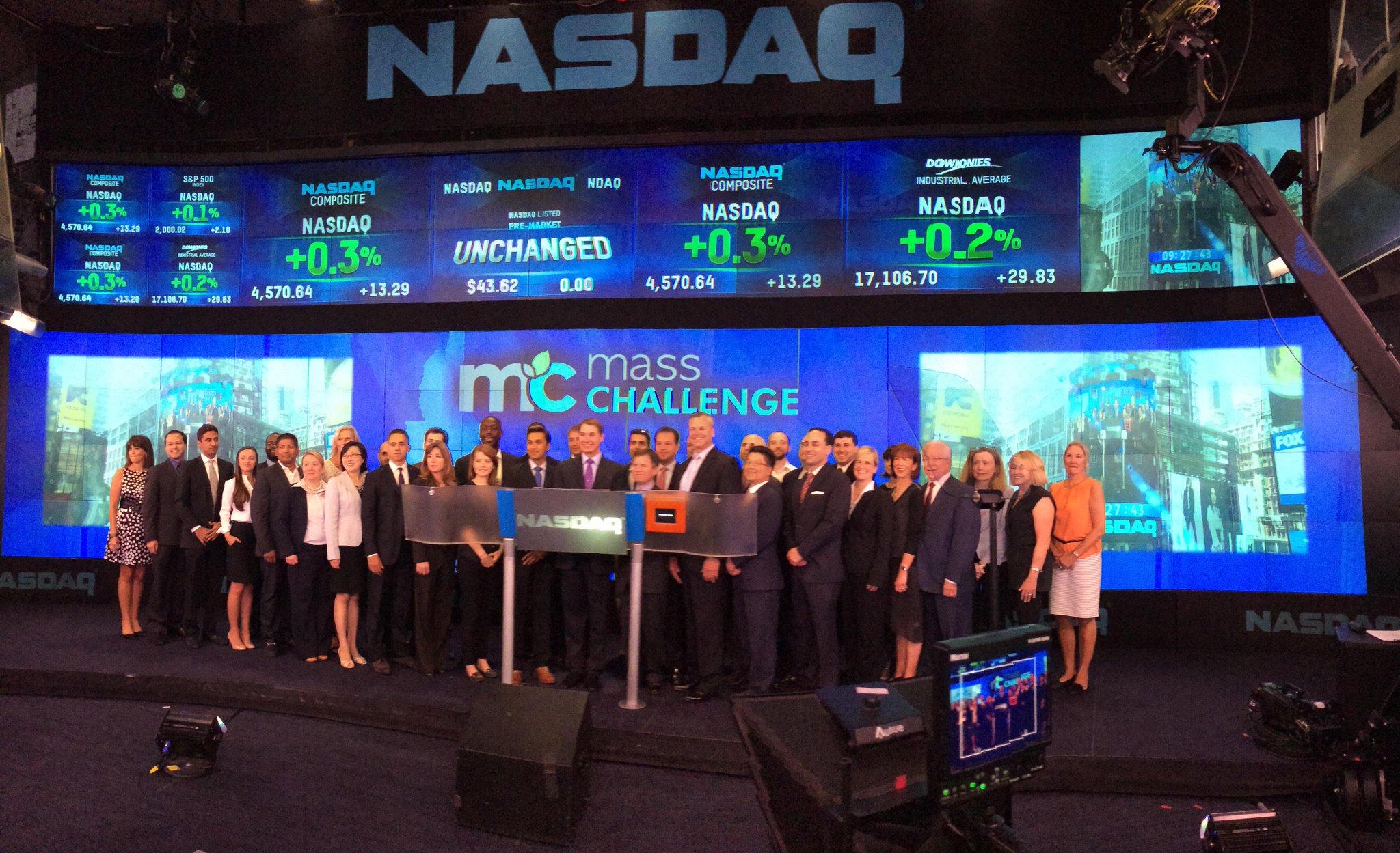 RT @NASDAQOMX: .@MassChallenge rings the #NASDAQ Opening Bell! http://t.co/1diGPy1PpV