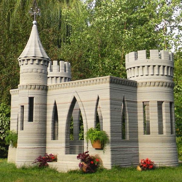 Man 3-D Prints Backyard Castle, Plans Two-Story House Next