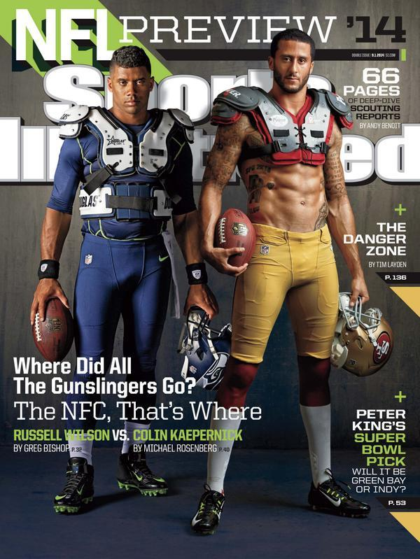 361e573aafe  49ers QB  Kaepernick7 is on  SInow's  nfl season preview cover for 2nd  straight year. READ  http   49rs.co pp21zu pic.twitter.com gp1OvQoNqb