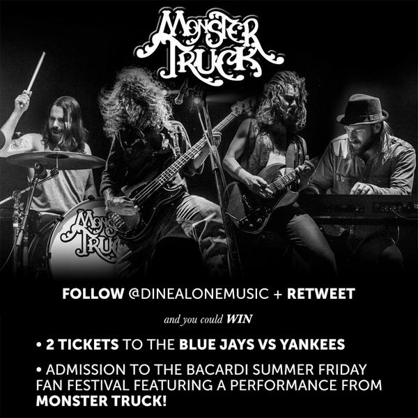 Follow + RT to WIN 2 tickets to @Jays vs @Yankees + @Monster_Truck_ Summer Friday Fan Festival performance August 29! http://t.co/imoKfoWBtD