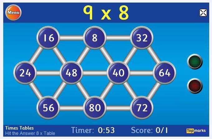hit the button math game