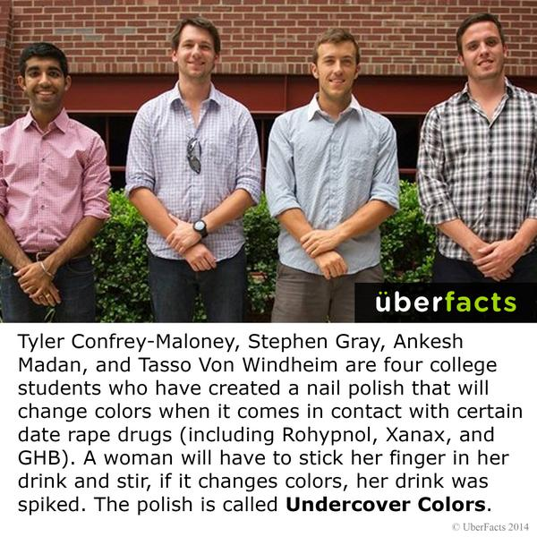 These four college students have created a life saving nail polish. http://t.co/QmNRI3cEgQ