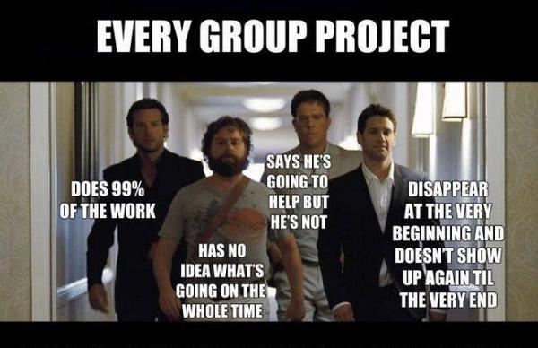 Every group project :) #teamwork #Wolfpack http://t.co/7ftFh5Rnxq