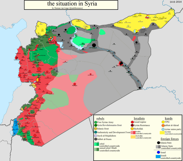 In Case U Lost Track Of Situation Syria Iraq Here 3 Useful Maps Enwikipediaorg Wiki TemplateSyrian Civil War Detailed Map