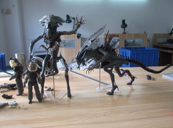 Neca On Twitter Alien Aliens Test Shots Behind The - aliens xenomorph queen deluxe figure