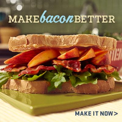 Bacon makes everything better. Miracle Whip and peaches make bacon better. http://t.co/L1gr4NpsF7 #proudofit http://t.co/yWaN2aSQ65