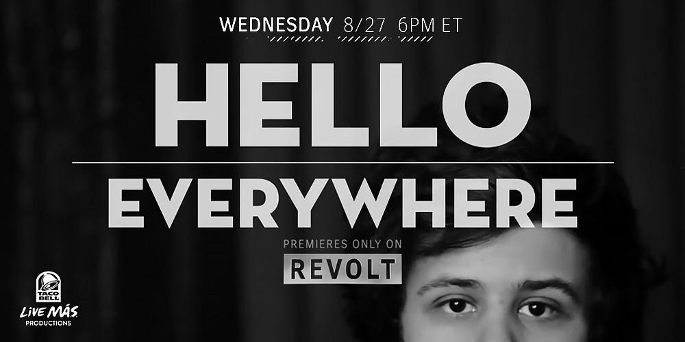 RT @iamdiddy: Tune in TONIGHT for the Premiere of #HelloEverywhere on REVOLT at 6p ET #LiveMas @FeedTheBeat http://t.co/GcPPbgMQCL http://t…