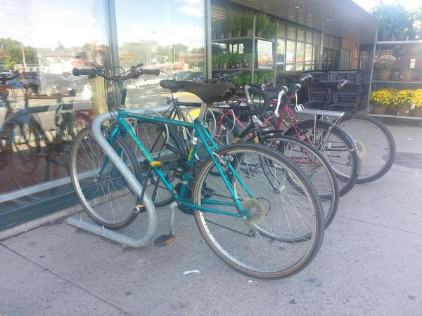 Bike rack at Fortinos