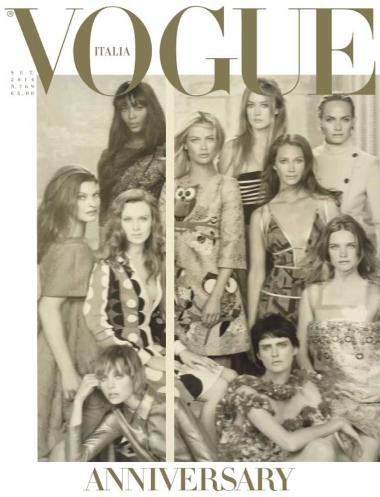 RT @IAMFASHlON: Vogue Italia's 50th Anniversary September cover just blows me away. @VogueItalia http://t.co/RR6ynRwQdV