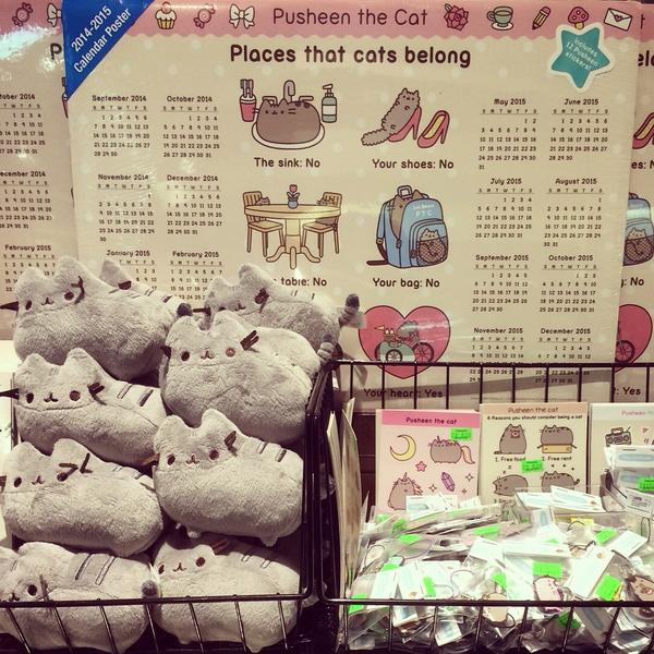 【Seattle Store】Are you craving some cuteness?  @Pusheen has arrived at our #seattle store! Come check them out! http://t.co/98IKxcIecb