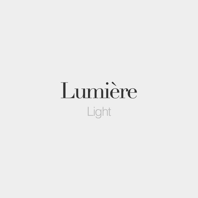 "French Words On Twitter: ""Lumière (feminine Word)"