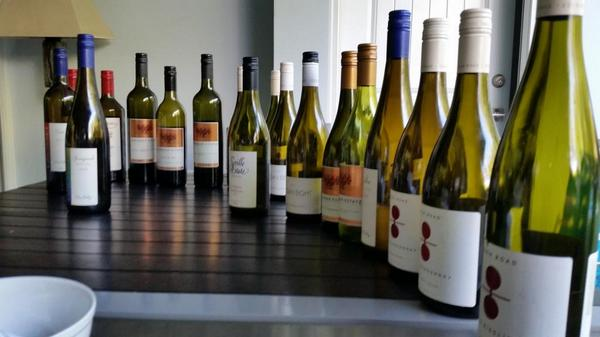 Just a few wines to taste through hear at @HWB_USA HQ! Best Aussie wine line up in the USA, no question! http://t.co/T4HodyDiyc