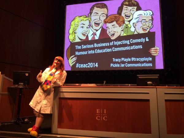 The serious business of injecting comedy and humour into education communications! #ceac14 @tracyplayle http://t.co/zv6N1HP5rJ