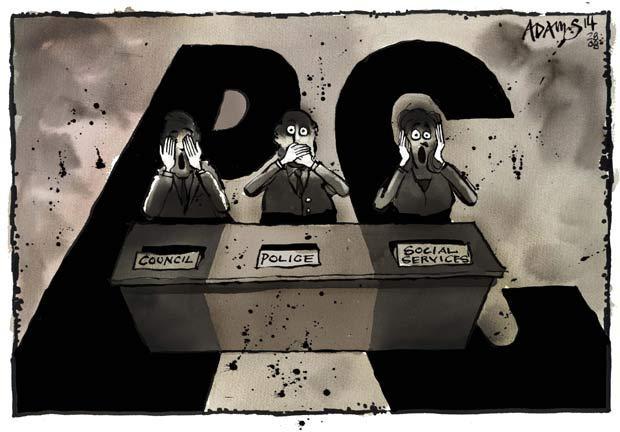 Cartoon on #RotherhamAbuse here:  http://t.co/MUtjFTWH7V (via @Telegraph, @Adamstoon1)