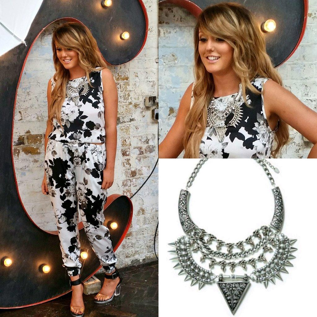 RT @KENZAccessories: The lovely #gshore @Charlottegshore wearing our 'Mika' necklace with her new collection #nostalgia for #inthestyleuk h…
