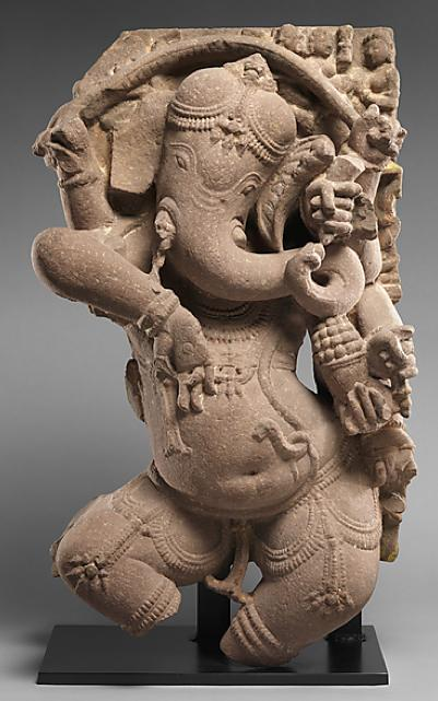 Celebrating birthday of Ganesha, remover of obstacles! Here's @metmuseum sculpture (one of 30+) made 1,000 yrs ago: http://t.co/LbvQCdw4NT