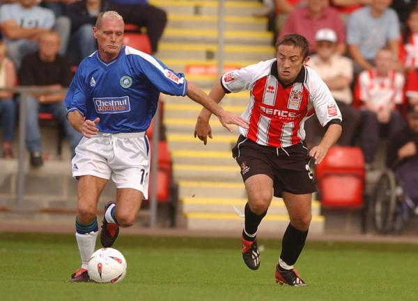 On this day in 2004, Paul Gascoigne played at Whaddon Road as a substitute for Boston United against Cheltenham Town http://t.co/8zUaqjYSBQ