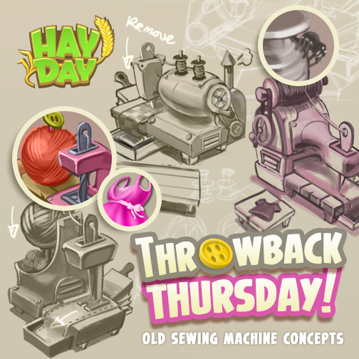 Hay Day On Twitter Throwback Thursday D Some Early Concepts Of Simple Hay Day Sewing Machine