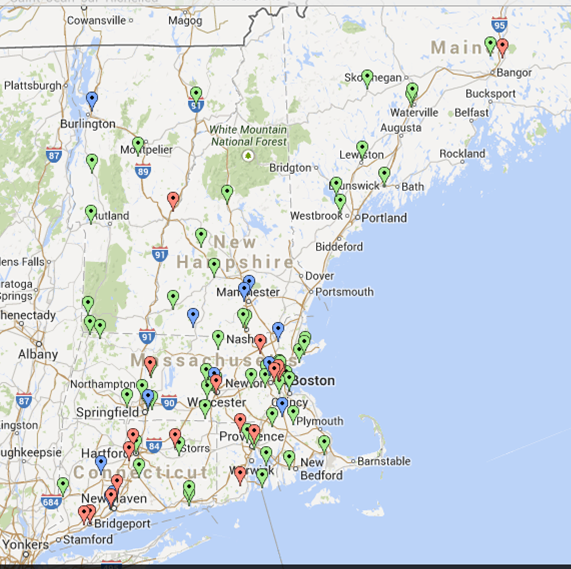 Colleges In New England >> Ne College Baseball On Twitter College Baseball Map Of New