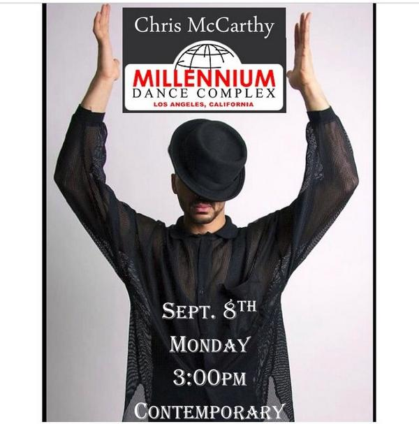 EVERYONE my homie @McCarthy89 will be teaching Contemp at Millenium Sept 8th..I'm dusting off my dance paws lol http://t.co/ctM7c5kd7o