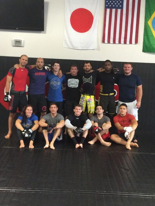 An honor to have @matthughes9x passing on some knowledge @CatZingano @NeilMagny @jaredhammanMMA @jmercadoMMA http://t.co/BNCr2shhU2