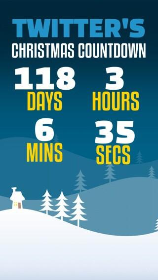 christmas countdown on twitter only 118 days until christmas day download our free iphone app httptcozry1io0aaw - How Many More Days Until Christmas 2014