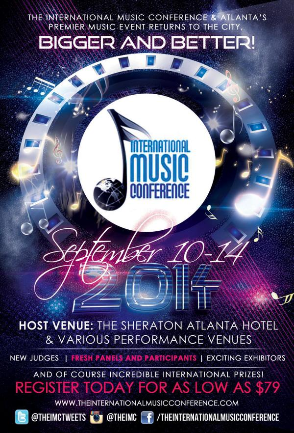 Be sure to follow the #IMC14ATL sponsors @Sesac @PatchwerkStudio @Ascap @IndieHitmaker @IconStudiosAtl @GrowthGroup <br>http://pic.twitter.com/H2GAOxvU88