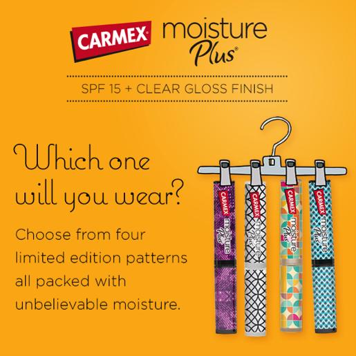 1985978d24 50 rt s will unlock a deal for  stylish savings on carmex moisture plus®  lip balm! tell your friends!  readyforfall