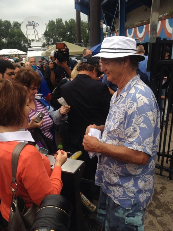 Bill Murray taking tickets at the gates of Midway! @StPaulSaints http://t.co/cC8mtL8DCK