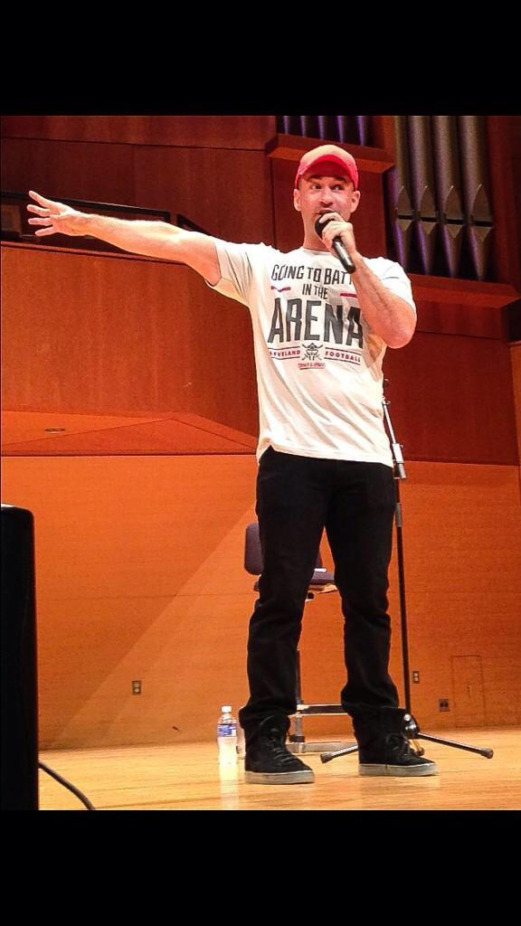 Thank you Cleveland State University for such a chance to tell my story; @ItsTheSituation @apbspeakers @Csu_CAB http://t.co/wOlVhJ6M00