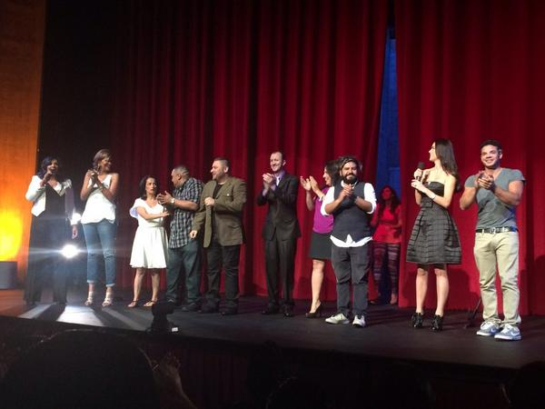 Here's one more pic! Great lineup! @GuyEckerInterFa @kikimelendez @FunnyAida @GuyEcker @saulogarcia @TOMMY5KDEGREEZ http://t.co/QqT2WPx5ST