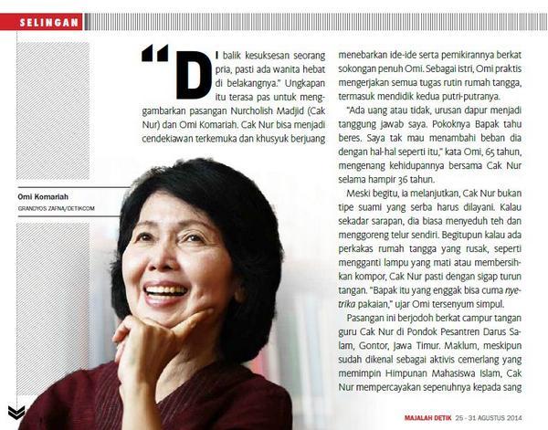 Istri Nurcholish Madjid Sedih Tak Bisa Gelar Diskusi di Kampus Paramadina