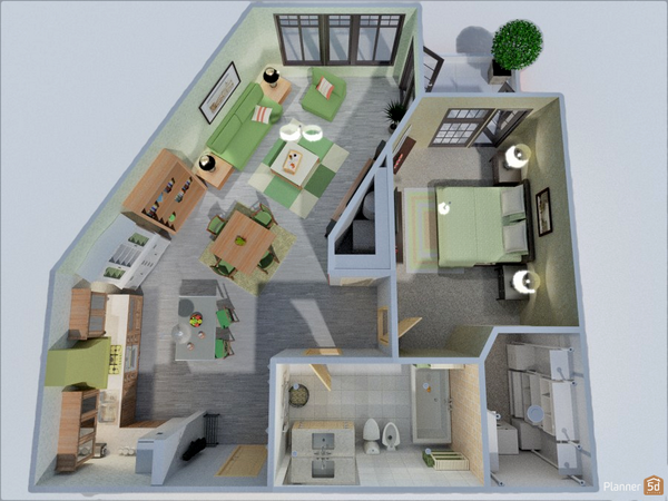 "Planner 5D on Twitter "" e bedroom apartment floorplans created"