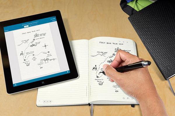 書いたものがそのまますぐにiPadに転送されるモレスキン。スマートペンとページのドットでリアルタイムに送信。(動画あり) http://t.co/SrPdBlZRbP http://t.co/t0MfFsCJSD