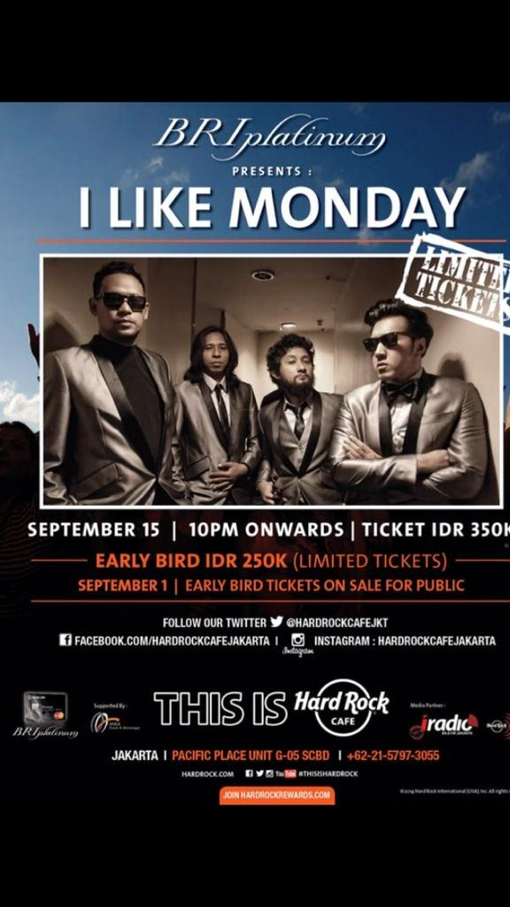 I Like Monday Bersama Naif di Hard Rock Café