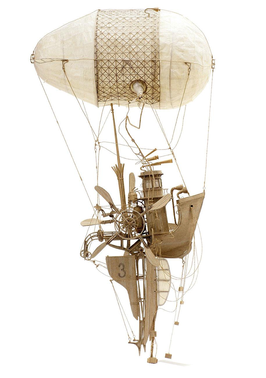 Cardboard sculptures of flying machines - take a look here: http://t.co/80QDnLHskP #design http://t.co/FDpVlj2wph